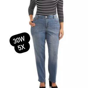 Terra & Sky Womens Plus Size Straight Leg Jeans